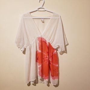 NEXT Short Sleeve Floral Flower Blouse Shirt Top